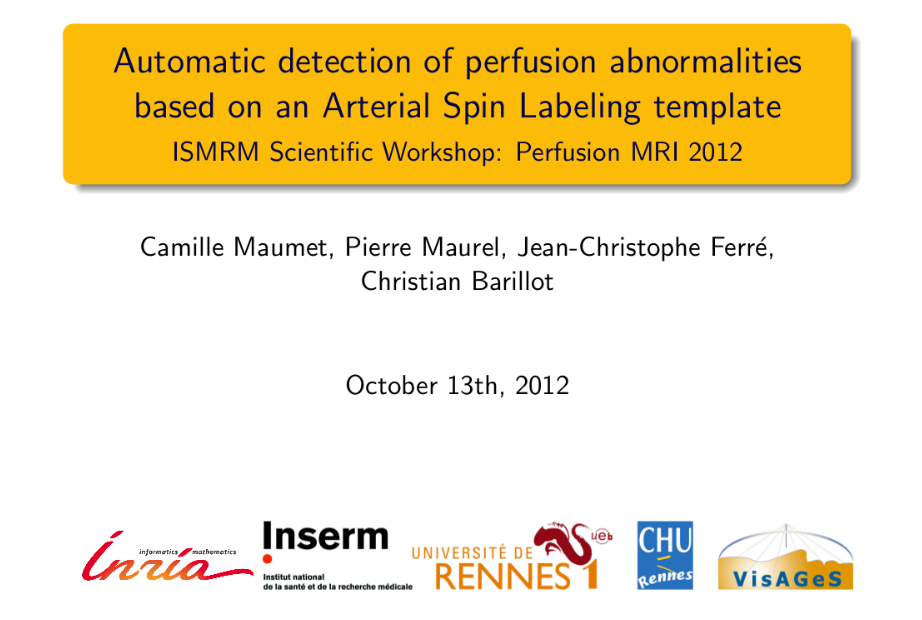 ISMRM Perfusion Workshop 2012